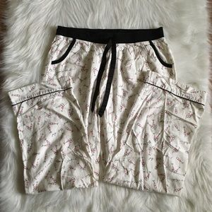 Victoria's Secret White Pink Champagne PJ Pants